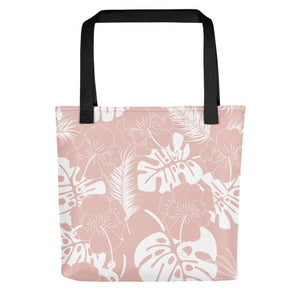 Leaf printed grayish red tote bag Stoneage Fashion Club Default Title