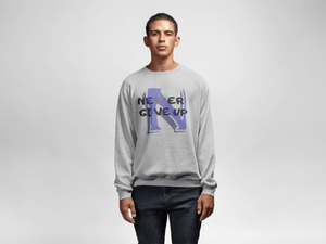 Men's Heavy Blend™ Crewneck Sweatshirt - Never Give Up Sweatshirt Printify