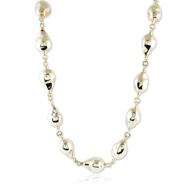 Linked Baroque Pearls in Sterling Silver