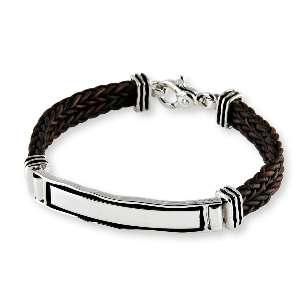 Double Leather ID Bracelet