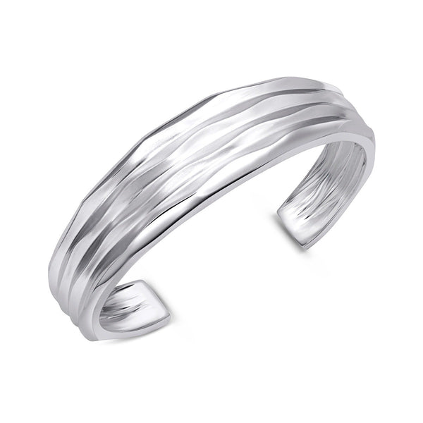 Thin Tapered Desert Wave Cuff Bracelet
