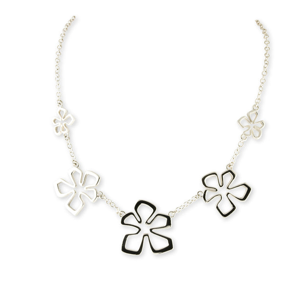 Tiki Flower Chain Necklace