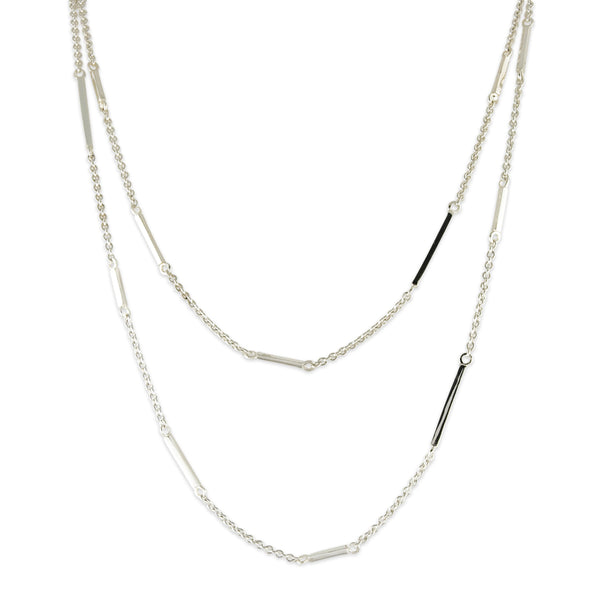 Bar Link Station Necklace