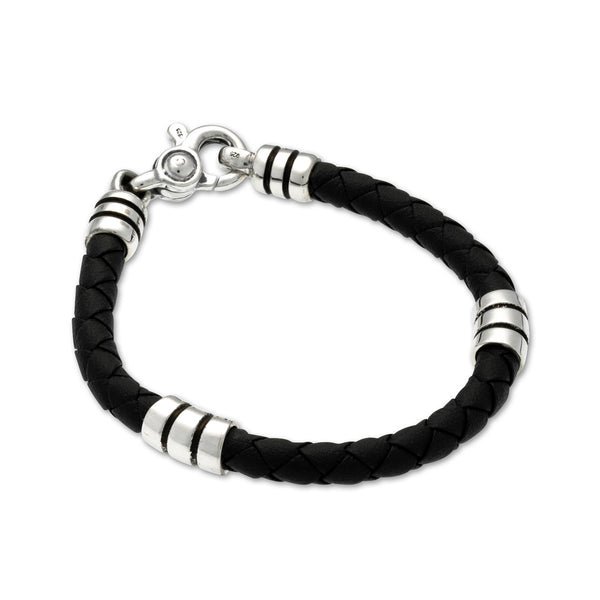 Stratus Bracelet with Leather