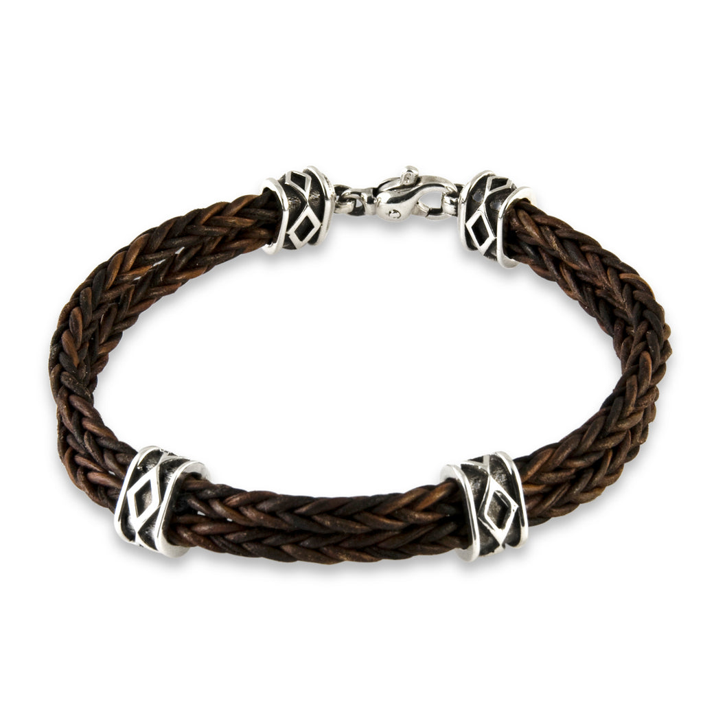 Diamond Box Leather Bracelet