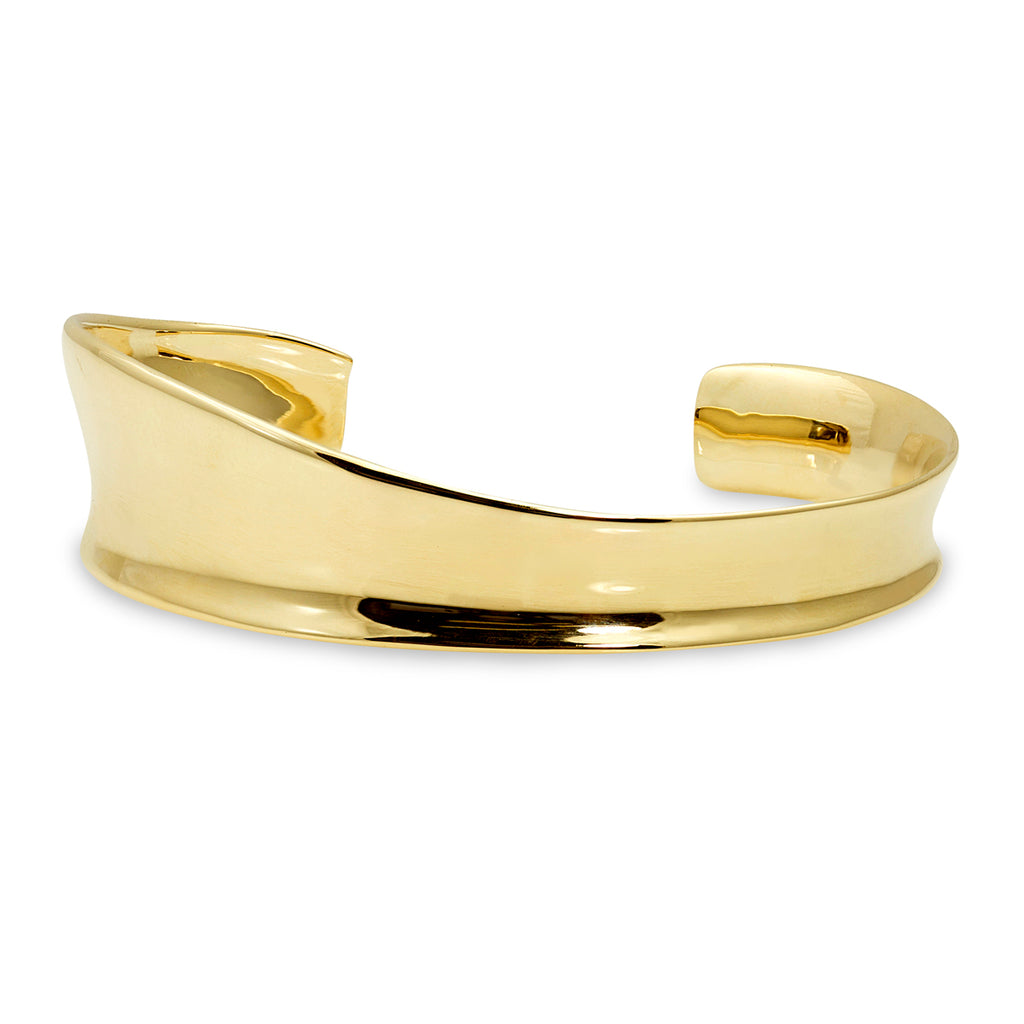Scuptural Cuff in 14K Gold