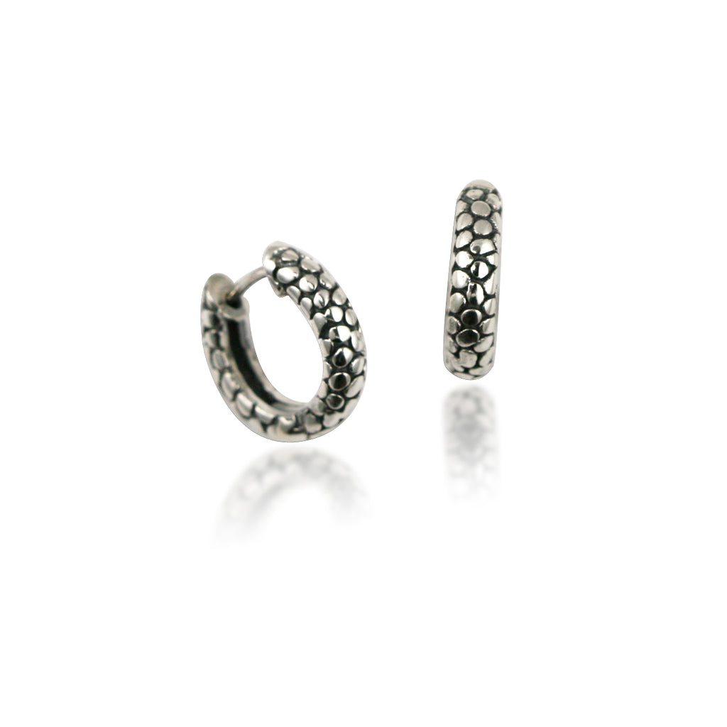 Raindrop Snap Hoop Earrings