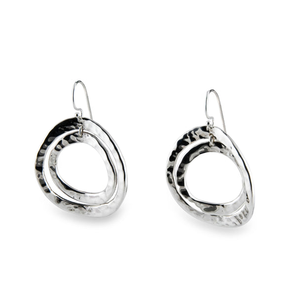 Concentric Circle Earrings: Zina Beverly Hills