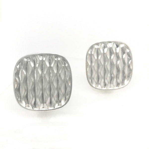 Square Desert Wave Clip Earrings