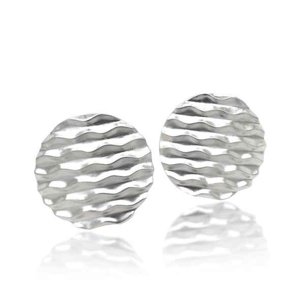 Round Desert Wave Clip Earrings