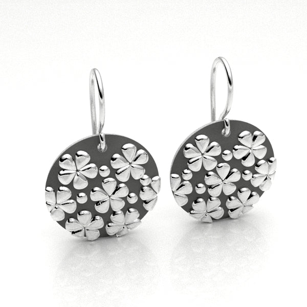 Small Flower Disc Earrings