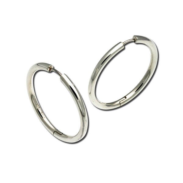 Large Snap Hoop Earrings