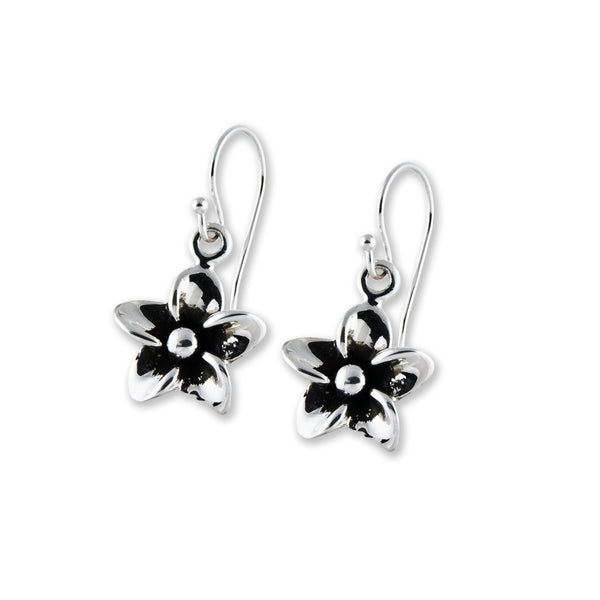 Hibiscus Flower Drop Earrings