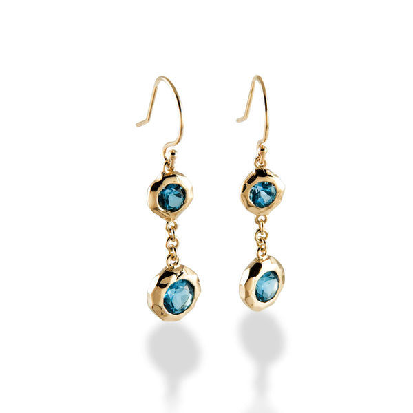 Double Drops with Blue Topaz