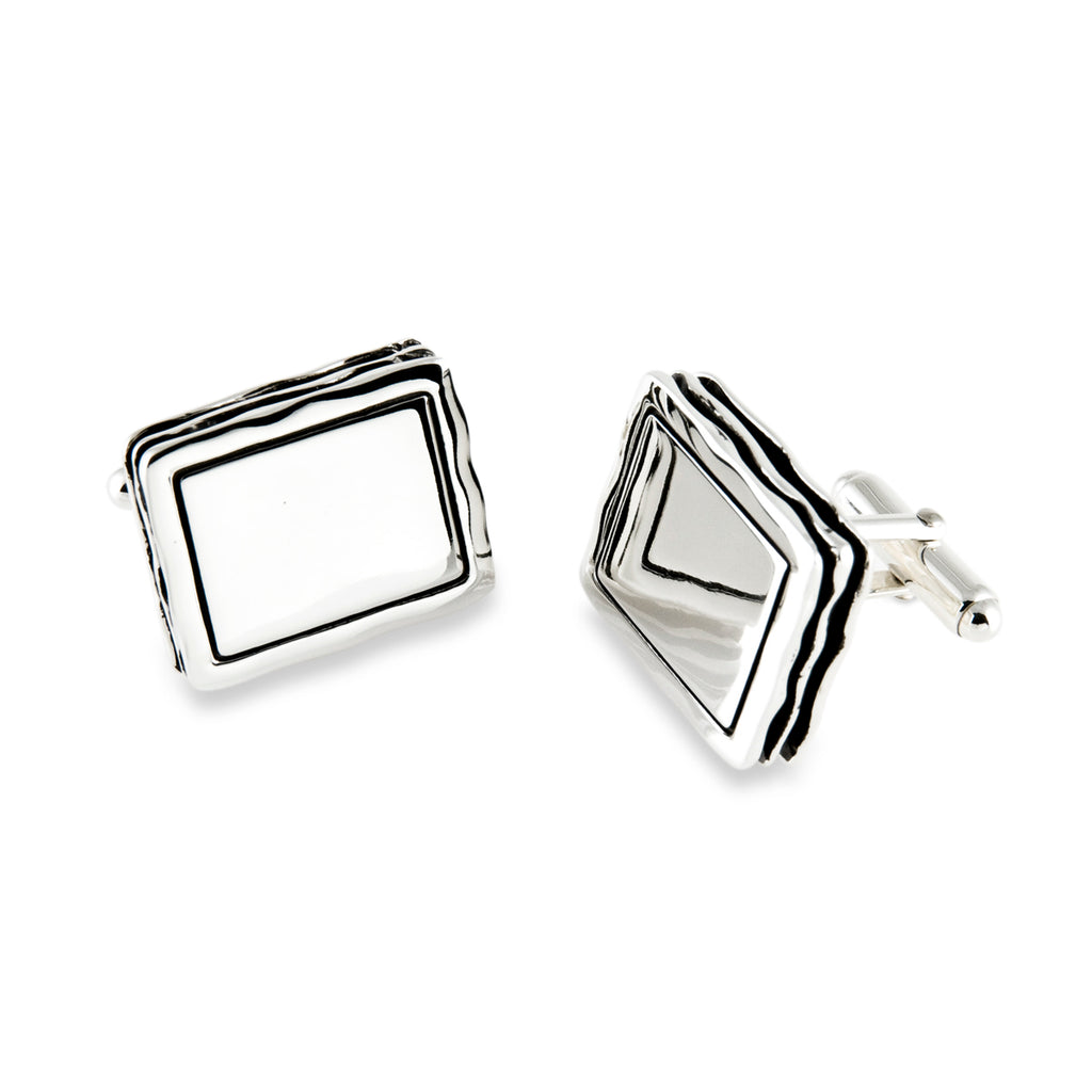 Waves Engravable Cufflink