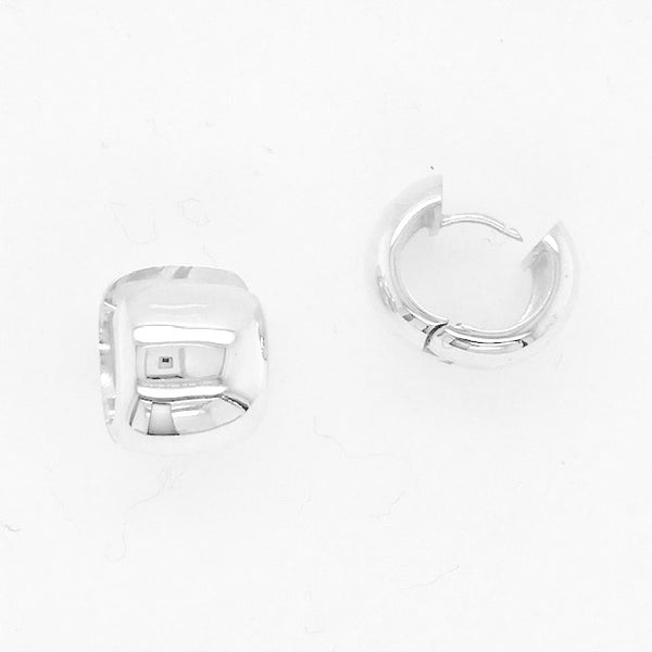 Wide Snap Hoop Earring