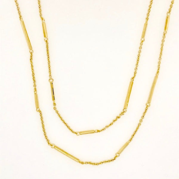 Vermeil Bar Link Station Necklace