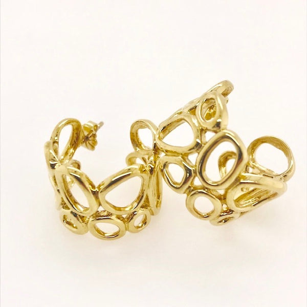 Vermeil Geometrics Hoop Earrings