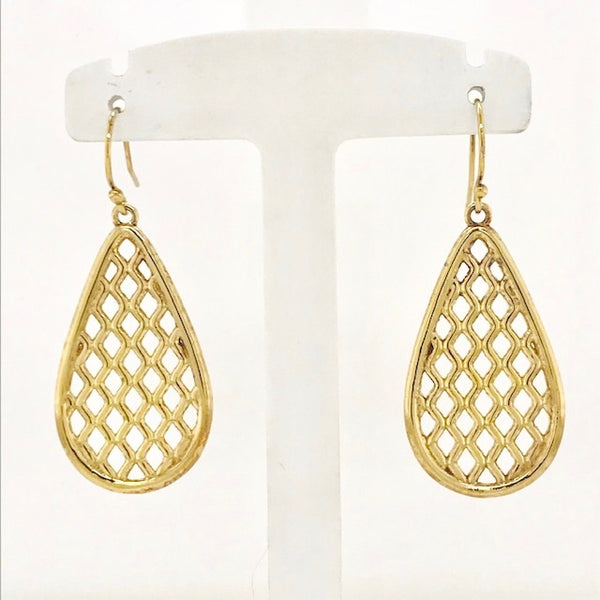 Vermeil Pear Drop Trellis Earring