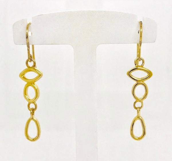 Vermeil Mini Touchstone Drop Earrings