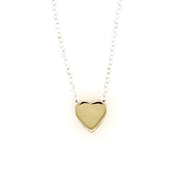Tiny 14k Heart Pendant