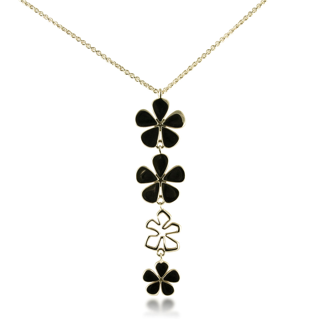 Four Flower Drop Pendant