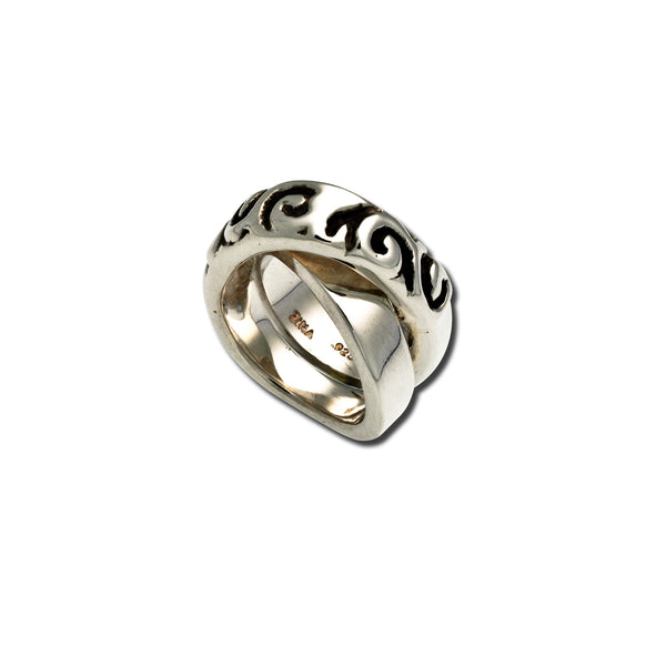 Swirl Crossover Ring