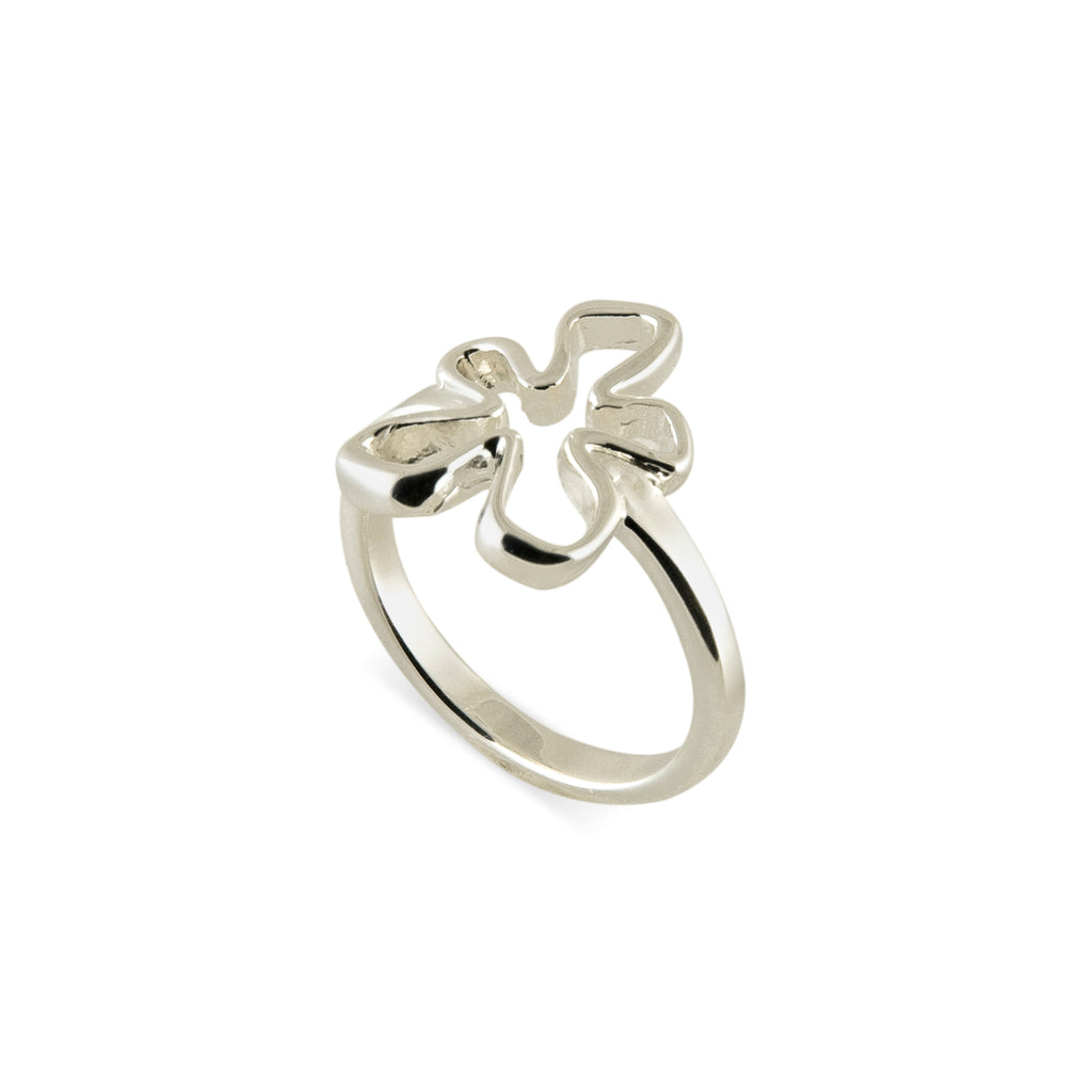 Open Tiki Flower Ring