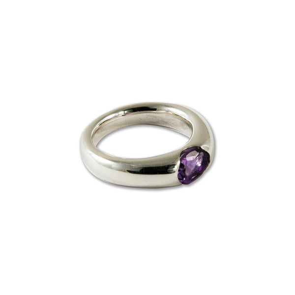 Suspension Ring with Amethyst