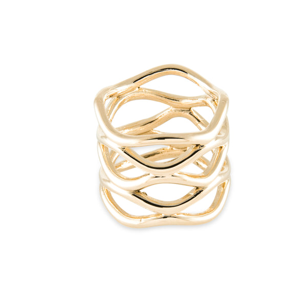 Waves Band Ring