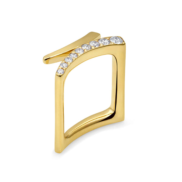 Abstract Square Ring with Diamonds