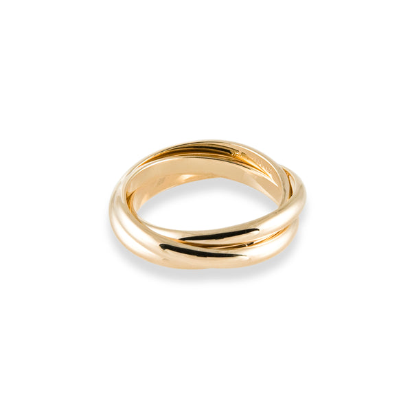 Classic Rolling Ring in 14K Gold