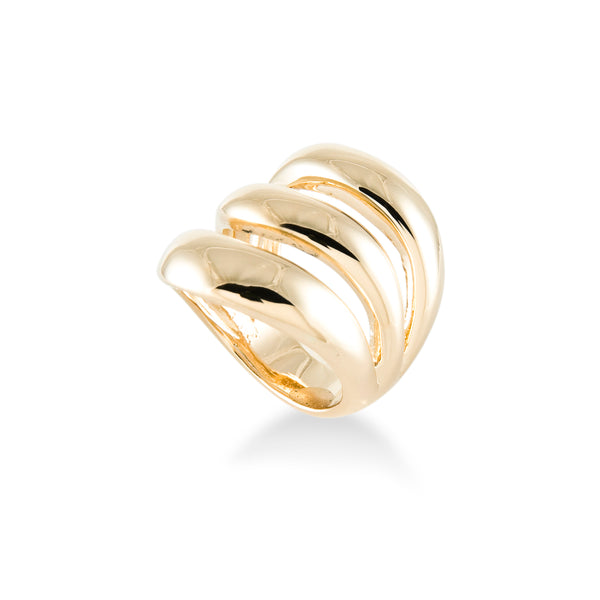 3 Wave Gold Ring
