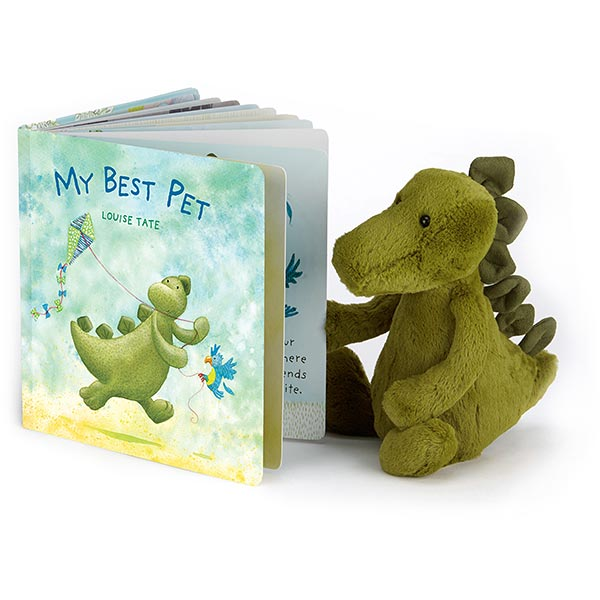 jellycat my best pet book and dinosaur soft toy gift babies children buy online at maple