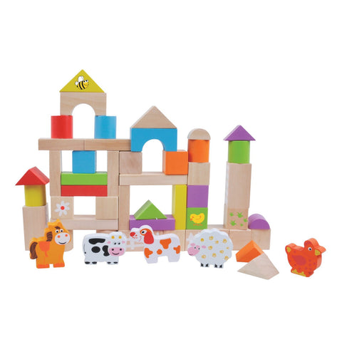 Jumini 50pcs Farm Building Blocks