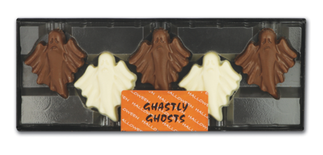 Halloween Hand Decorated Chocolate Ghastly Ghosts