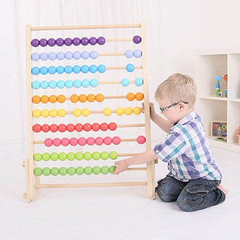 bigjigs giant wooden abacus maple