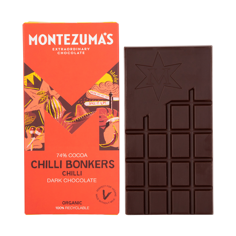 dark chocolate & chilli bar - Montezuma - maple