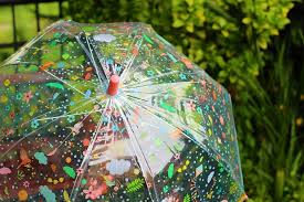 Djeco Kids Umbrellas Transparent Back To School Maple
