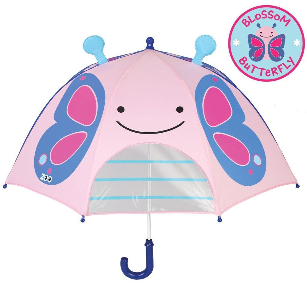Skip Hop Zoobrella Butterfly Little Kid Umbrella