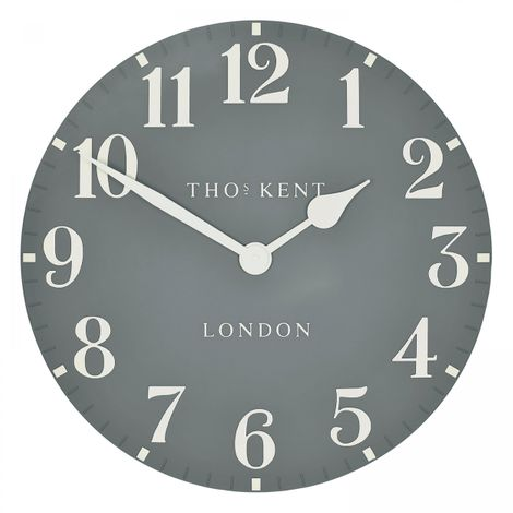 "Thomas Kent 20"" Arabic Flax Blue Wall Clock"