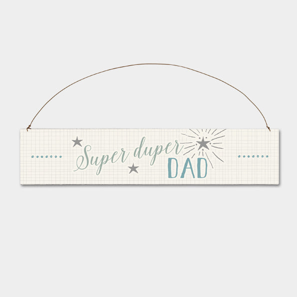 East of India - Wooden Sign - Super Duper Dad