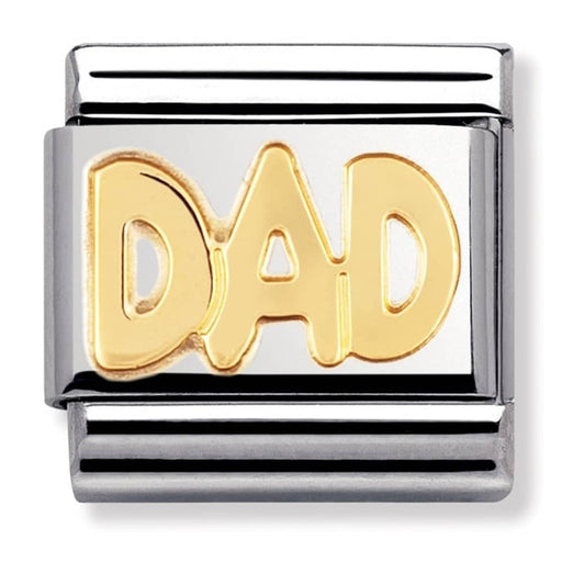 Nomination Classic Gold Charm - Dad