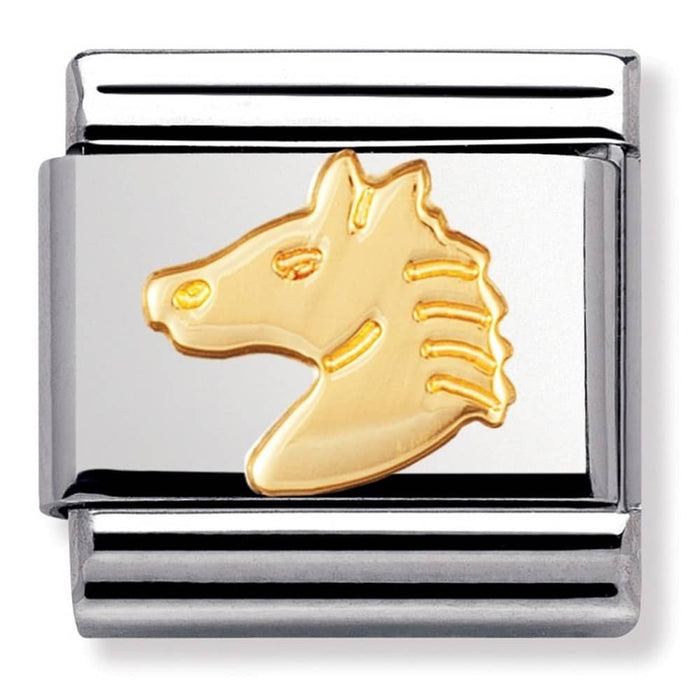 Nomination Classic Gold Charm - Horse's Head
