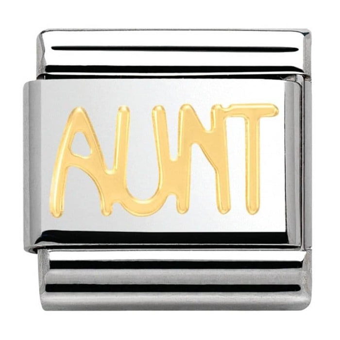 Nomination Classic Gold Charm - Aunt