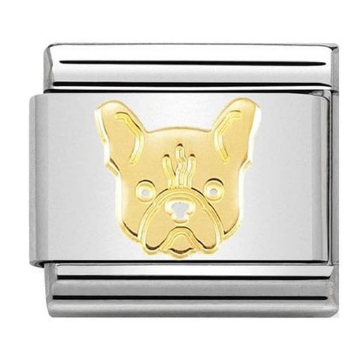 Nomination Classic Gold Charm -  French Bulldog