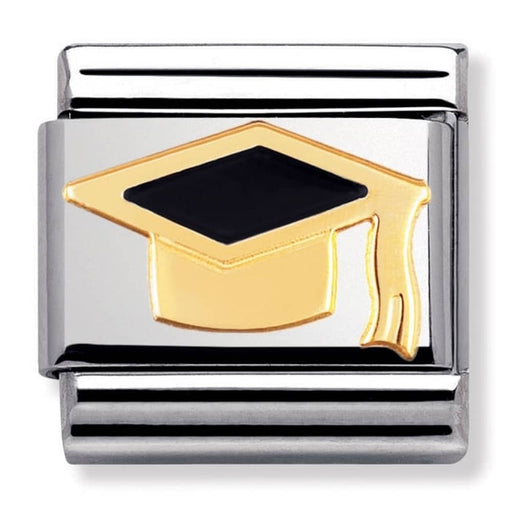Nomination Classic Gold Charm - Black Graduation Hat