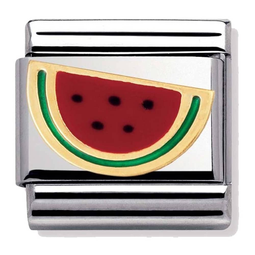 Nomination Classic Gold Charm - Watermelon