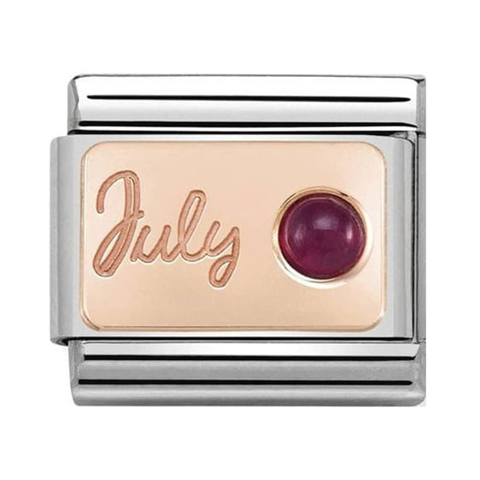 Nomination Classic Charm - Rose Gold July Ruby