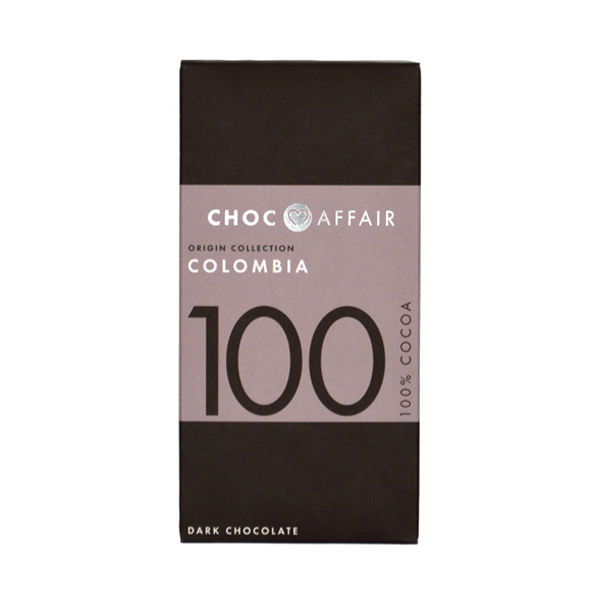 Choc Affair 100% Colombia Dark Chocolate Bars